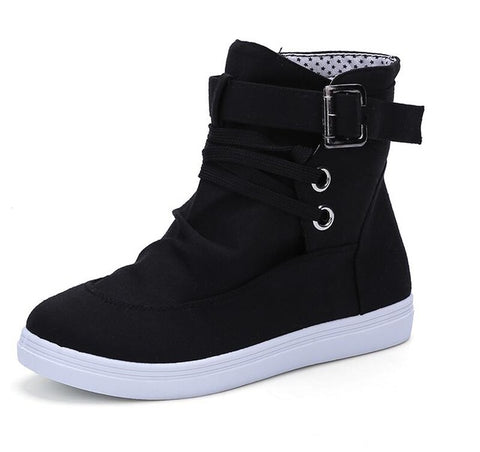 Women's High Top Buckle Shoe