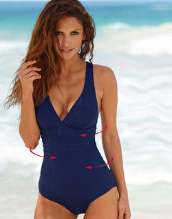 Women's Solid Bathing Suit