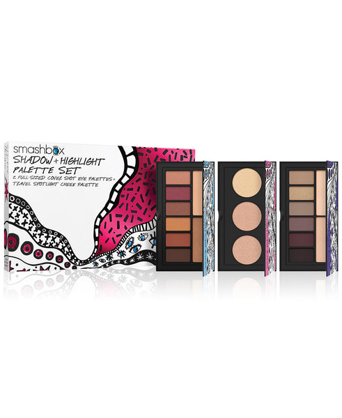 Smashbox Cosmetics Smashbox 3-Pc. Drawn In Decked Out Shadow + Highlight Palette Set - Bella Bella Fashions