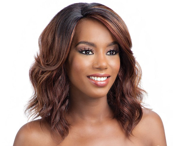 Model Model Synthetic Hair Deep Invisible L Part Wig - JINA - Bella Bella Fashions