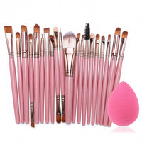 20pcs Makeup Brushes Kit with Free Beauty Blender - Bella Bella Fashions