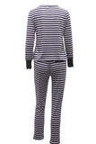 STRIPES MY WAY PANTS SET 2PC - Bella Bella Fashions