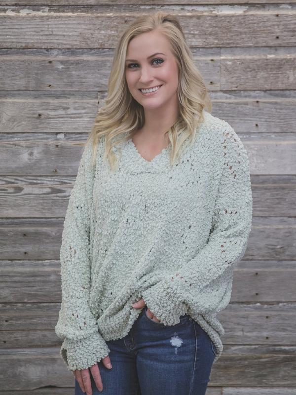 Sage V Neck Sweater