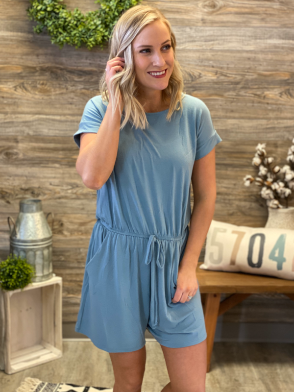 Blue Grey Romper