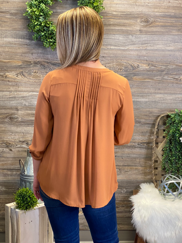 Ginger Pin Tuck Blouse