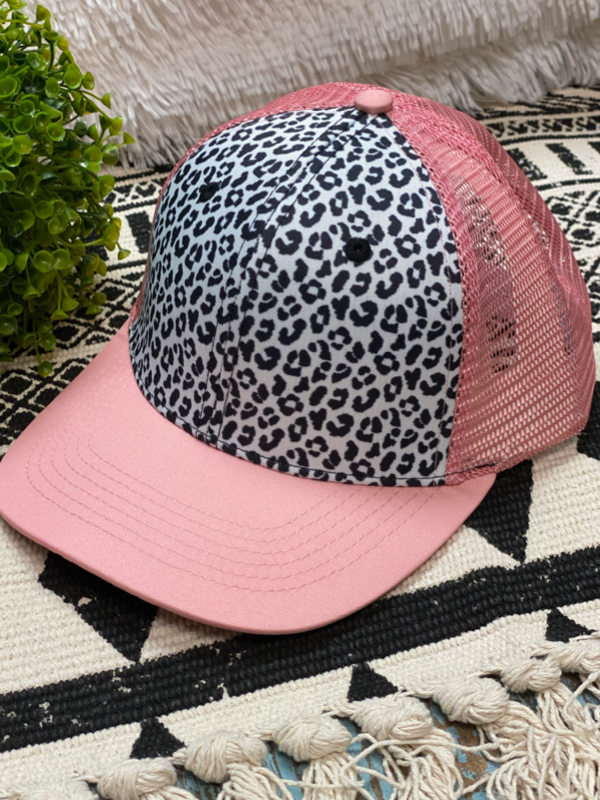 Leopard and Pink Hat