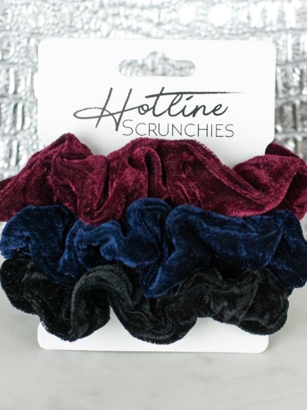 Hotline Velvet Scrunchies - Bumbleberry