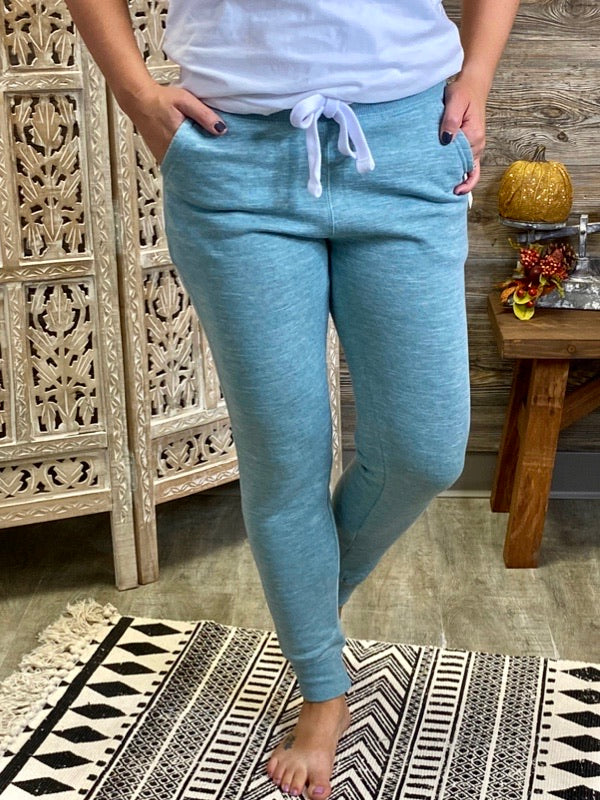 Marled Smoky Blue French Terry Joggers