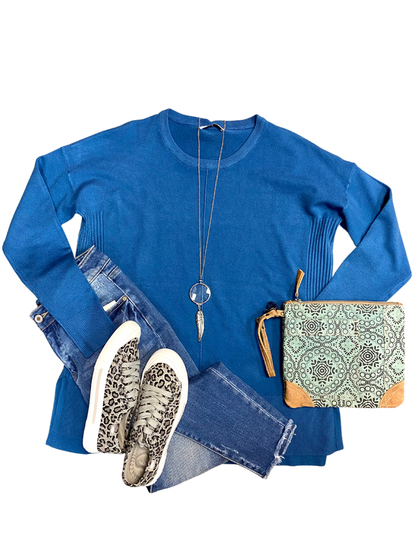 Sea Blue Sweater