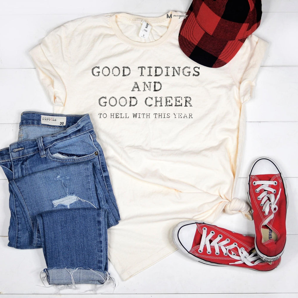 Good Tidings Tee Vintage White