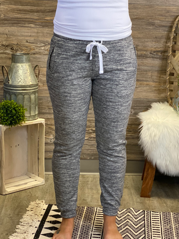 Marled Charcoal Fleece Joggers