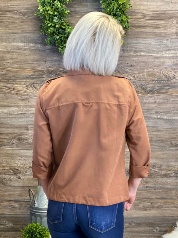 Clay Utility Crop Jacket