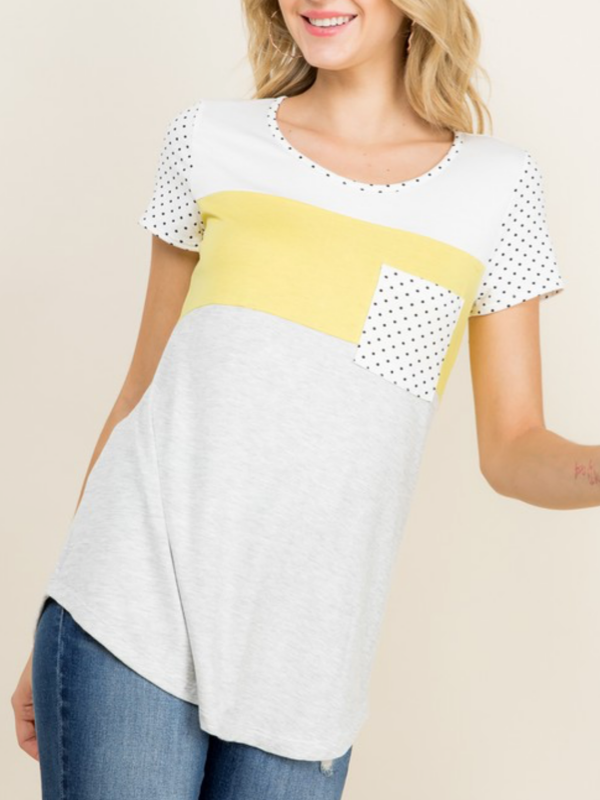 Sunny Yellow Colorblock Top