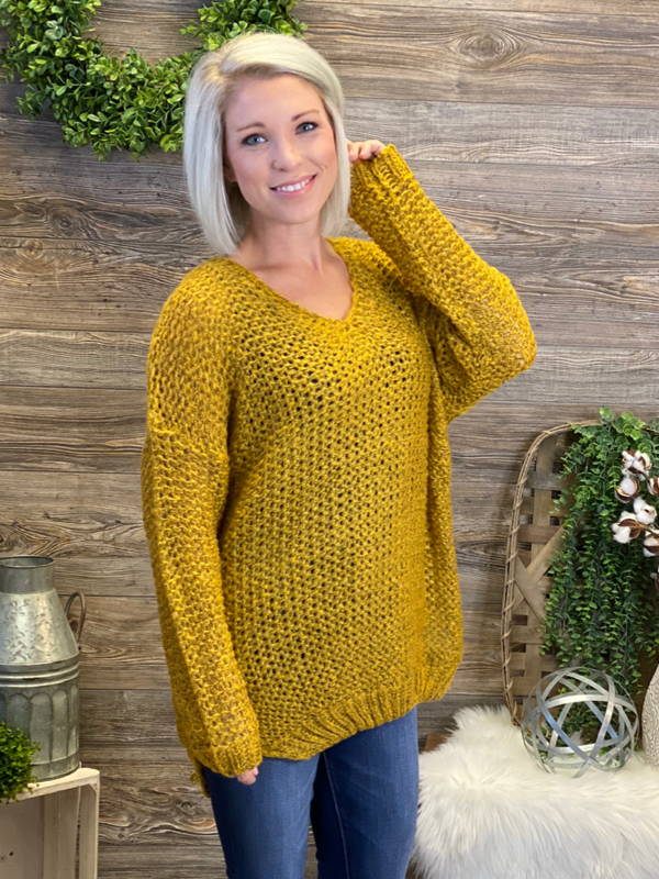 Mustard Cozy Sweater