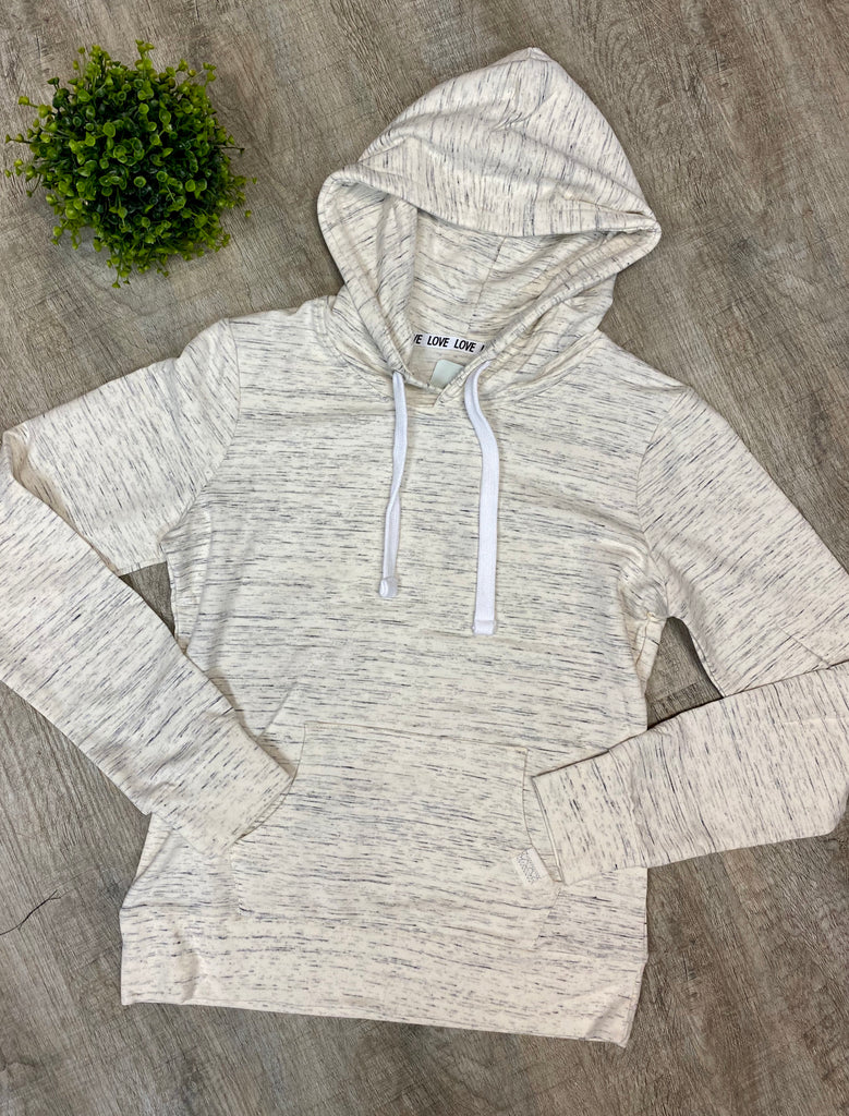 Marled Oatmeal French Terry Pullover Hoodie