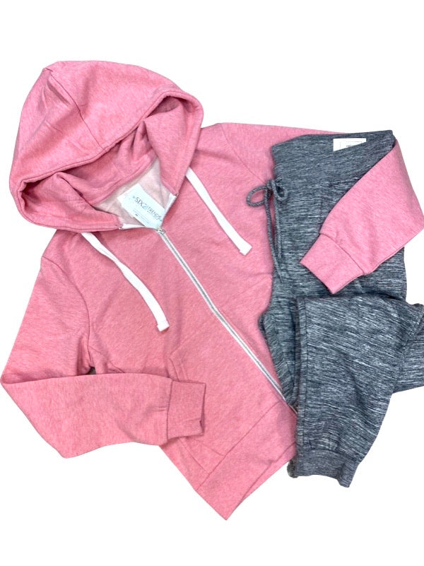 Strawberry Fleece Zip-Up Hoodie