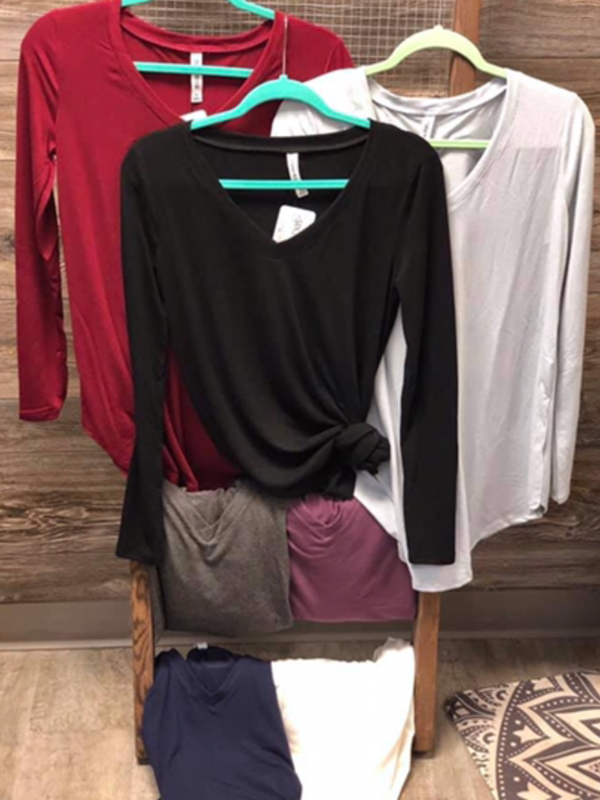 Long Sleeve V Neck - Multiple Options