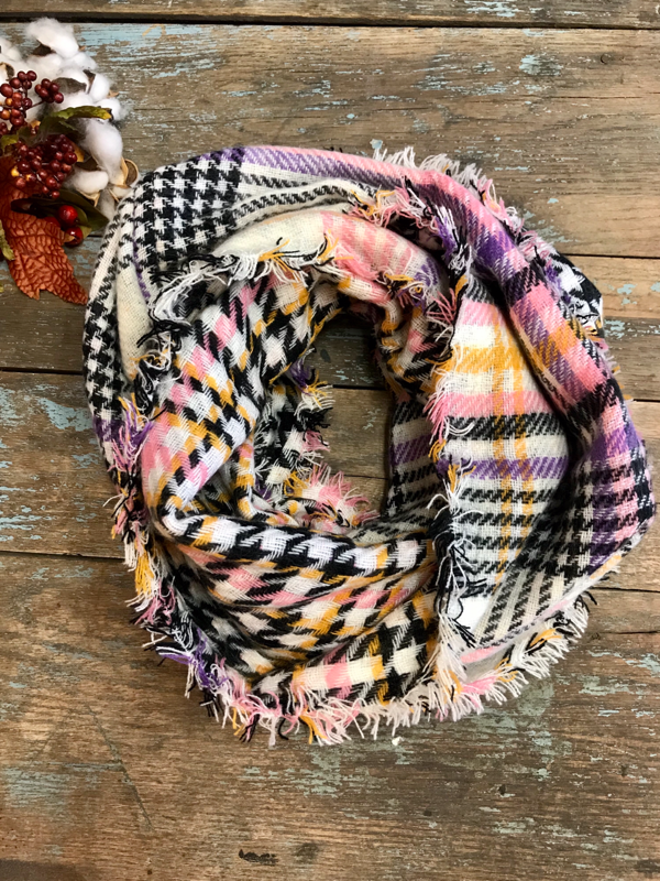 Plaid Double Sided Infinity Scarf (3 Options)