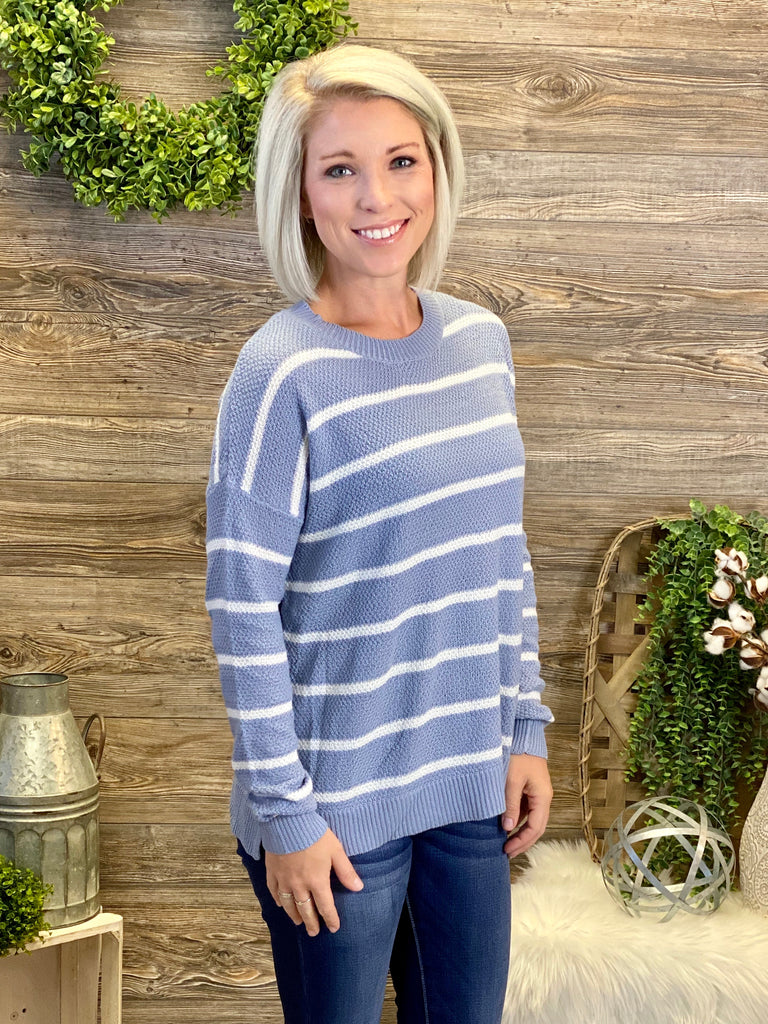 Periwinkle Striped Sweater
