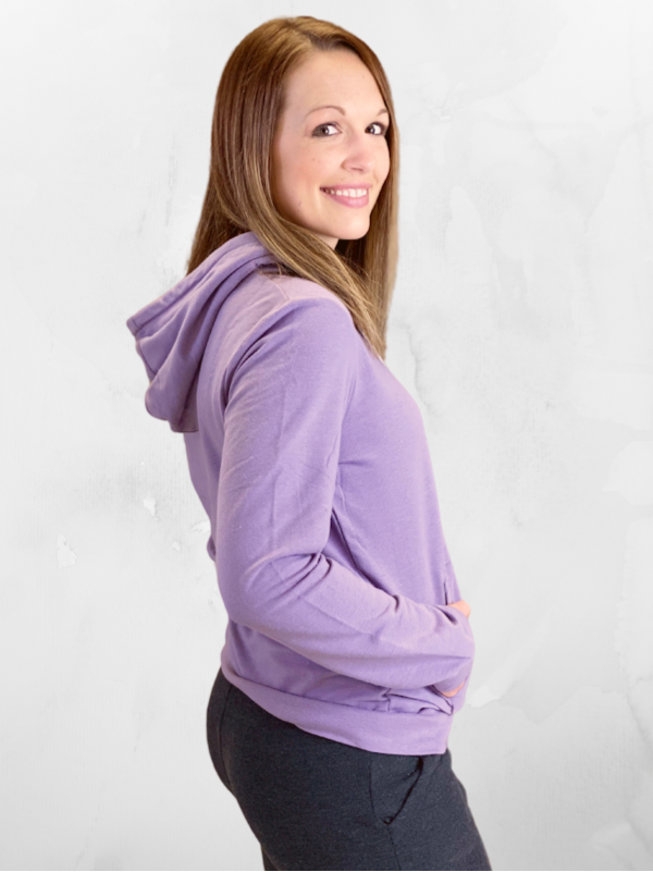 Dusty Purple French Terry Pullover Hoodie