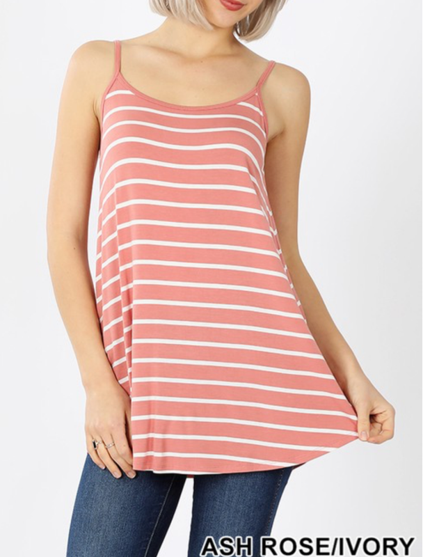 Striped Reversible Tank Curvy