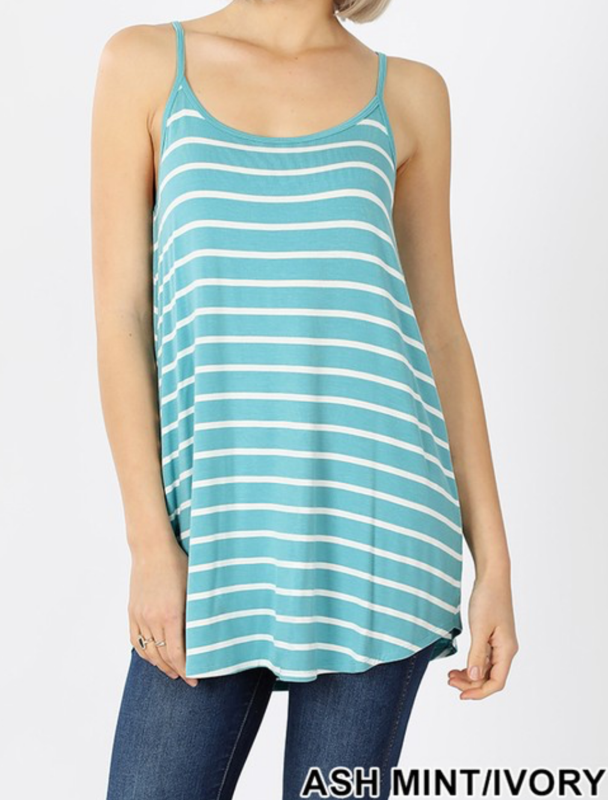 Striped Reversible Tank Curvy (Multiple Colors)