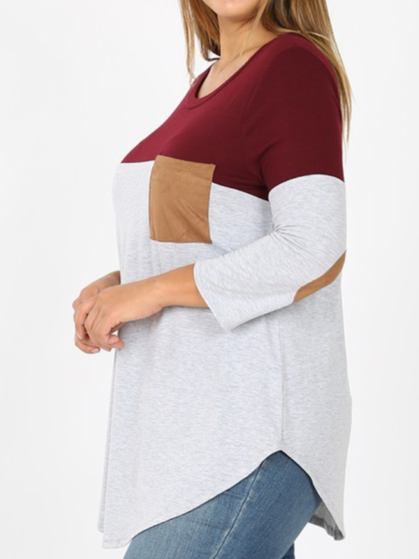 Colorblock with Elbow Patches Curvy (2 Options)
