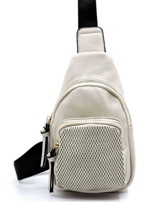 Off White Crossbody Sling Backpack