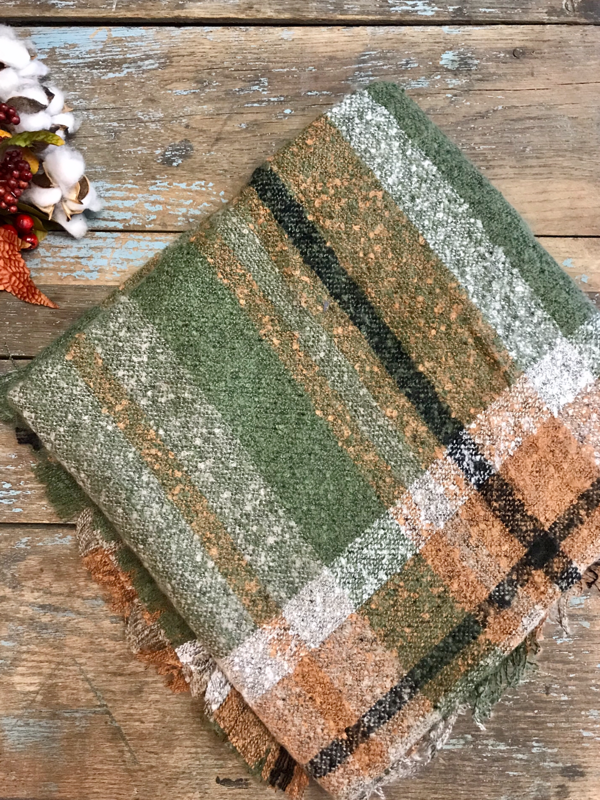 Multi-Colored Plaid Blanket Scarf (3 Options)