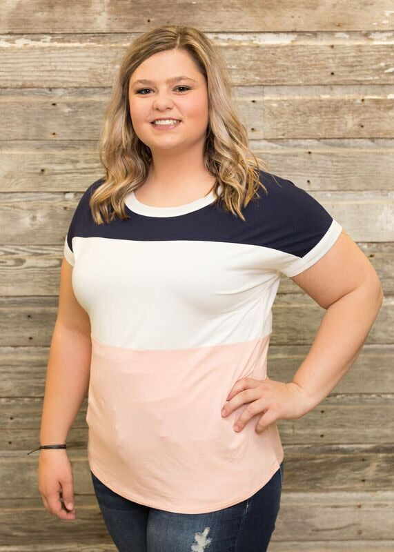 Blush Colorblock Top