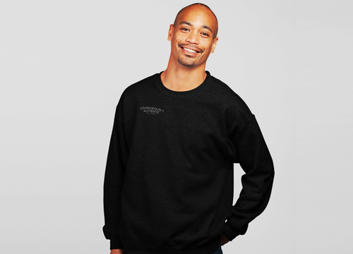 Courageously Authentic Mens Crew Neck Sweater
