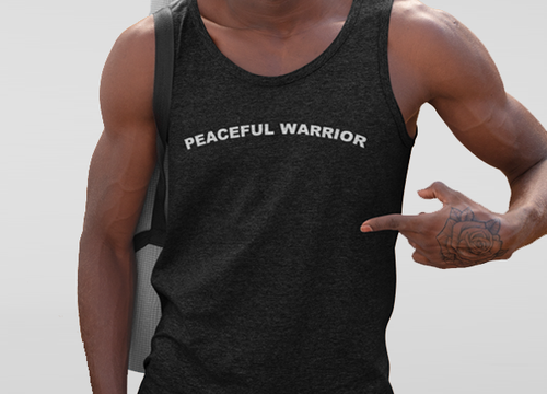 Peaceful Warrior Mens Tank Top