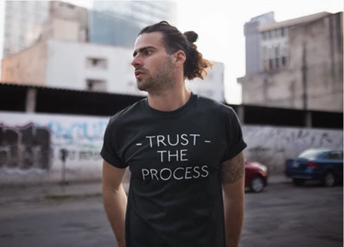 Mens Trust The Process Short Sleeve (Black)