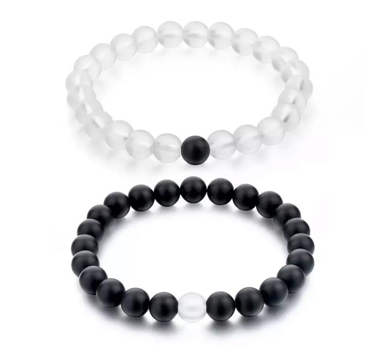 Distance Bracelets Serene Accessories Clear