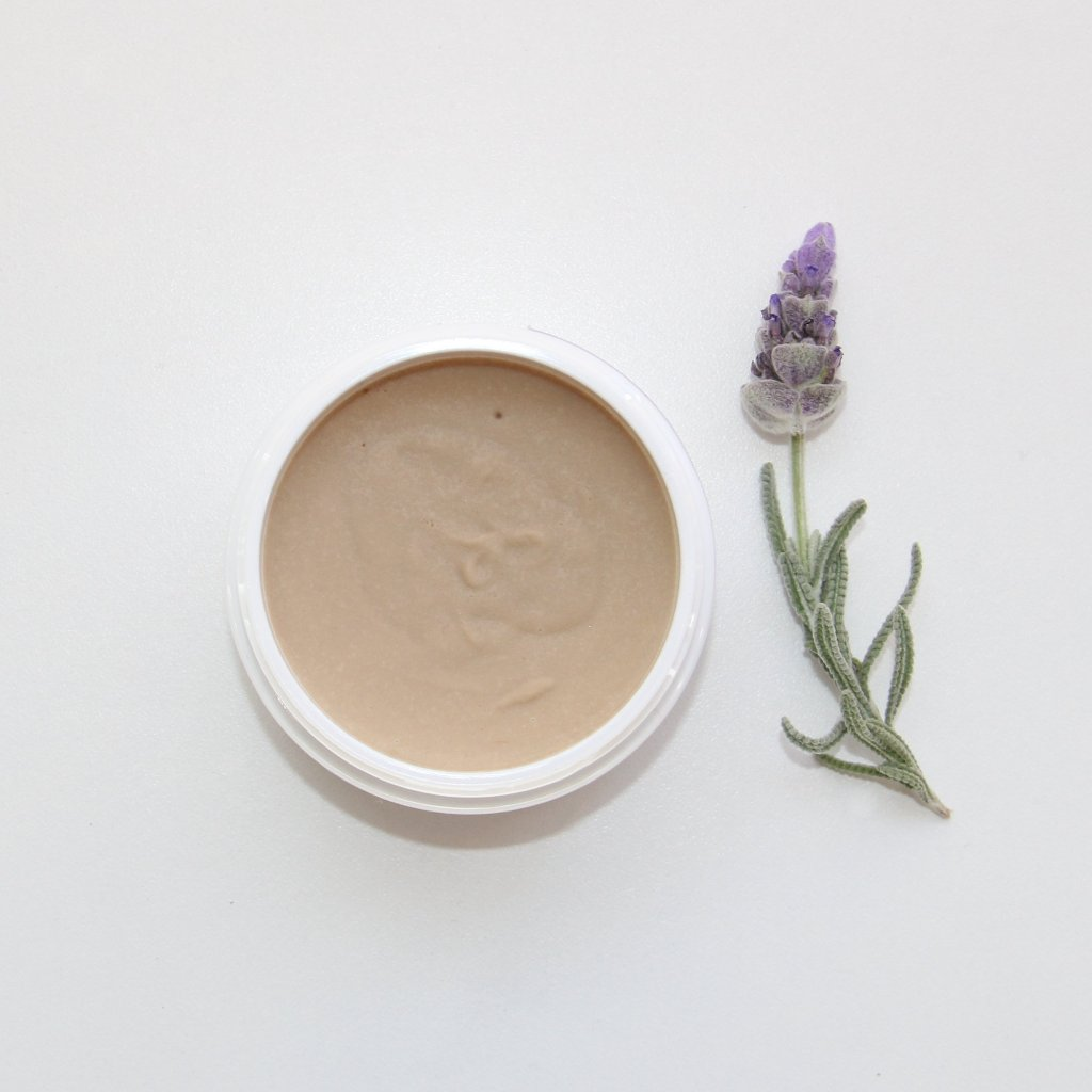Natural deodorant paste with Lavender + rose geranium