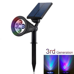 4 LED Waterproof Solar Powered RGB Color changeable Decoration lamp - ePeriodLED