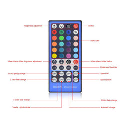 DC12-24V LED Strip light RGBW 40Key remote controller free shipping - ePeriodLED