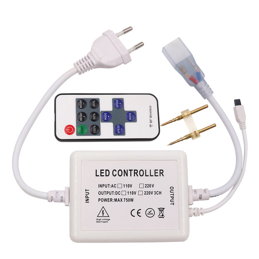 110V 220V 11keys IR remote controller for Single color led strip - ePeriod Led Lighting Store