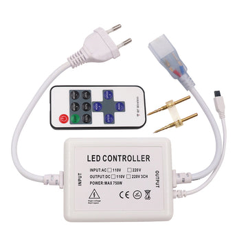110V 220V 11keys IR remote controller for Single color led strip - ePeriodLED