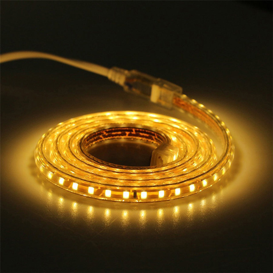 4mm Led strip light 3528 2835 AC220v with Power Plug