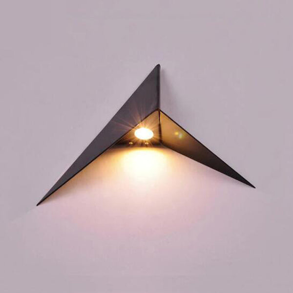 Creative triangle led wall lamp bedside living room