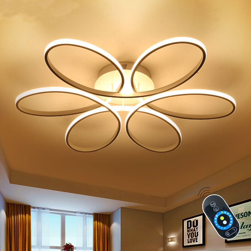 Surface Modern Ceiling Lights Fixtures Remote Dimmer Acrylic Lampshade High Brightness