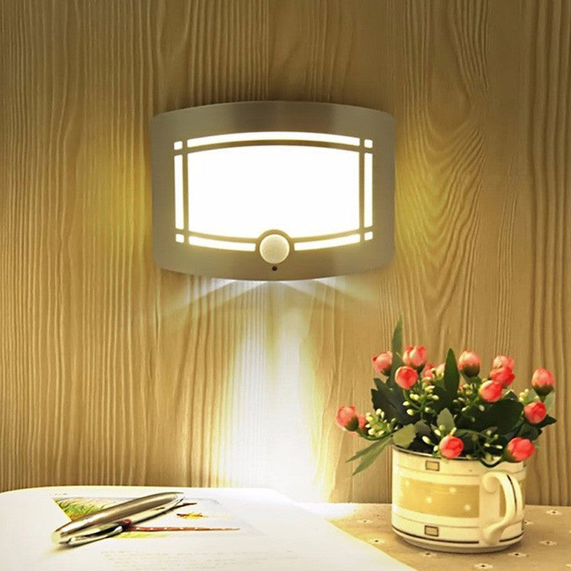 Novelty Infrared Motion Sensor LED Night Light Wall Lamp