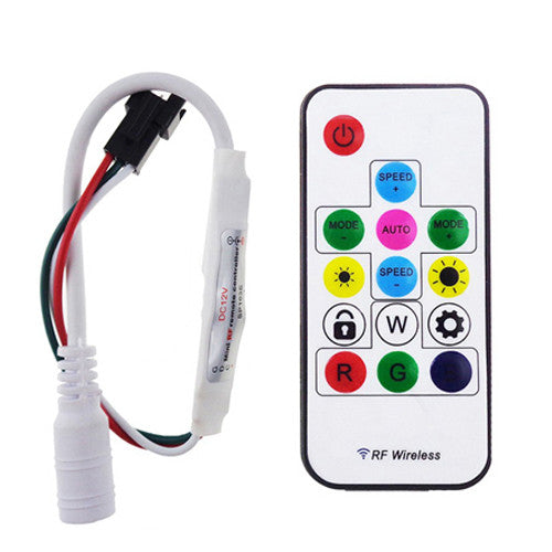 SP103E Mini RF Controller with 14 keys wireless Remote for IC Led strip