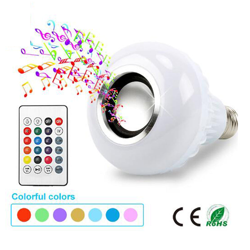 Smart RGB Bluetooth Speaker LED Bulb Light with Remote Control
