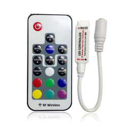 DC12-24V Mini RF wireless 17key remote controller for RGB Led strip - ePeriodLED