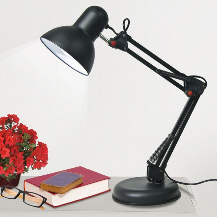 Iron Foldable Long-Arm E27 Clip Led Table Lamp-1