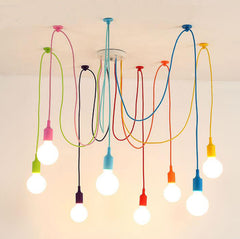 Modern Colorful Pendant Lights with 4/6/8/10/12 Heads - ePeriod Led Lighting Store