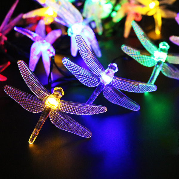 5M 20 Led dragonfly Solar Led String with solar panel - ePeriodLED