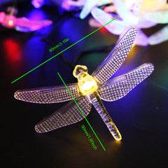 5M 20 Led dragonfly Solar Led String with solar panel